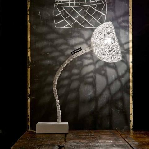 Borddesign lampe In-es.artdesign T2 tekstur fleksibel stilk