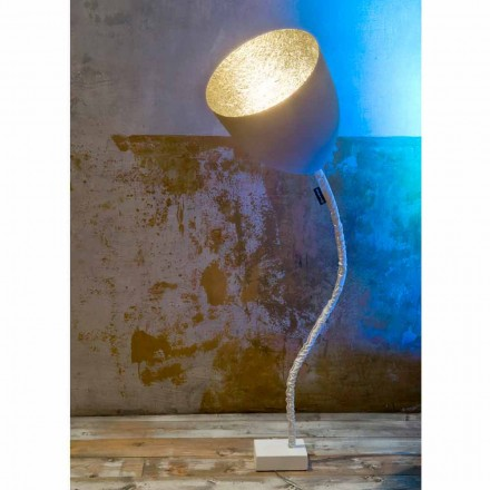 Design gulvlampe In-es.artdesign Blomstermalet cement