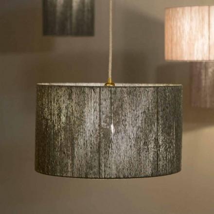 Suspenderet designlampe med d.45 i uld fremstillet i Italien Evita