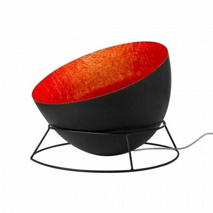 Stål og nebulit gulvlampe In-es.artdesign H2o F farvet