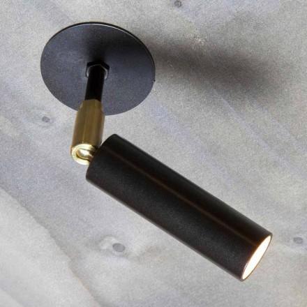 Håndlavet aluminiumslampe med justerbart LED-lys Made in Italy - Radia