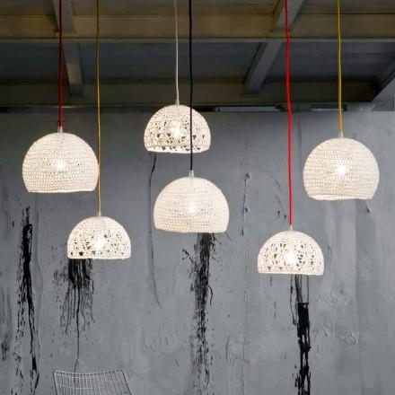 Lampe i bomuld og viskose suspenderet In-es.artdesign Moderne tekstur