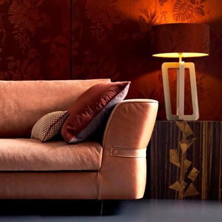 Bordlampe i massivt lakeret træ Grilli Barnaby lavede Italien