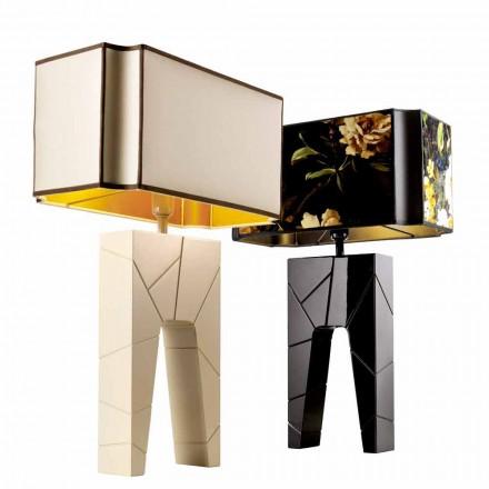 Grilli Zarafa lavede Italien massivt træ natbord / bordlampe