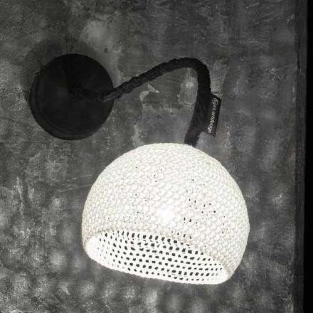 Harpiks og bomulds væglampe In-es.artdesign Moderne A1 tekstur