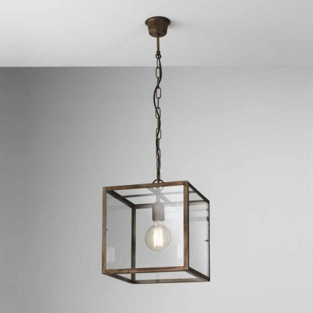 Industriel lampe i jern suspension London Il Fanale