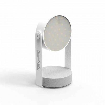 Led udendørs bordlampe, hvid aluminium eller grafit - Tofee fra Talenti