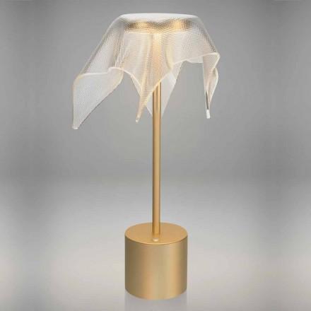 LED-lampe i farvet metal og gennemsigtig prismatisk plexiglas - Tagalong