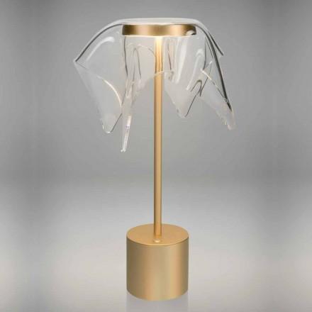 Touch LED-lampe i farvet metal og gennemsigtig plexiglas - Tagalong