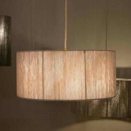 Moderne vedhængslampe i uld fremstillet i Italien Evita