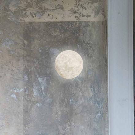 Moderne væglampe In-es.artdesign A. Månen i nebulit