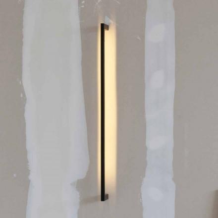 Håndlavet moderne væglampe i sort jern fremstillet i Italien - Pamplona