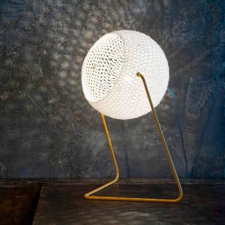 Moderne bordlampe In-es.artdesign Håndlavet bomuld T1 tekstur