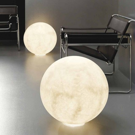 Moderne sfærisk bordlampe In-es.artdesign Gulvmåne nebulit