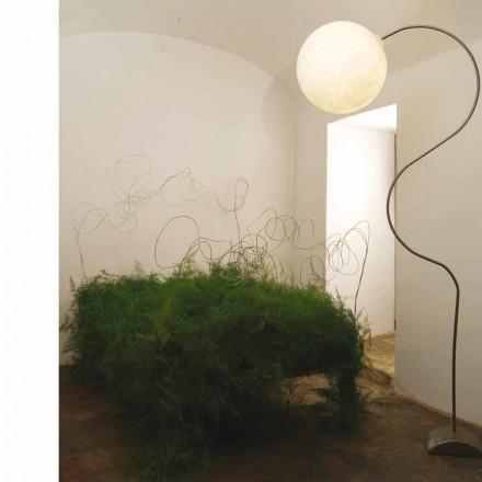 Moderne hvid gulvlampe nebulite In-es.artdesign Luna H210cm