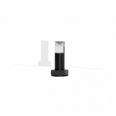 Moderne bordlampe i sort metal og plexiglas fremstillet i Italien - Dalbo