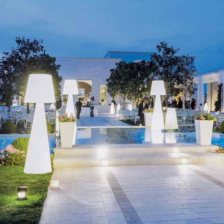Moderne hvid udendørs gulvlampe Slide Pivot, lavet i Italien