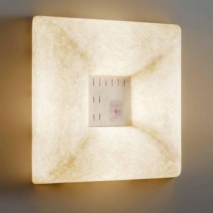 Hvid nebulit væglampe In-es.artdesign Dada Luna 1 design