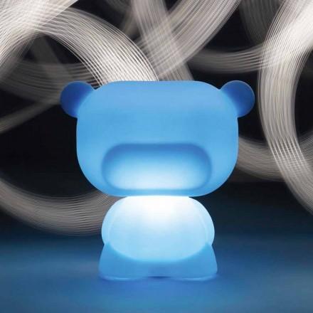 Lysende bordlampe i form af en Slide Pure bjørn, lavet i Italien