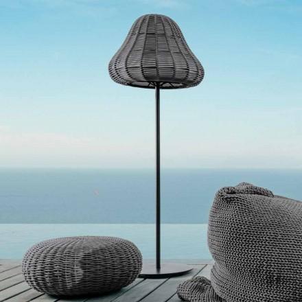 Jackie Talenti moderne udendørs gulvlampe i syntetisk reb