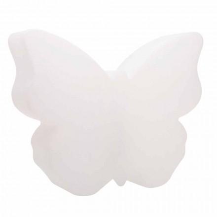 Bord- eller gulvlampe til indendørs eller udendørs, hvid sommerfugl - Farfallastar
