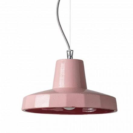30cm vedhæng lampe i messing og toscanske maiolica, Rossi Toscot