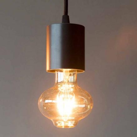 Håndlavet jernhængelampe med bomuldskabel Fremstillet i Italien - Frana