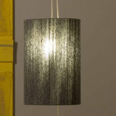 Suspended / gulvlampe fremstillet af messing og uld lavet i Italien Evita