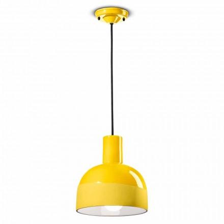 Hængende lampe i moderne stil i keramik fremstillet i Italien - Ferroluce Caxixi
