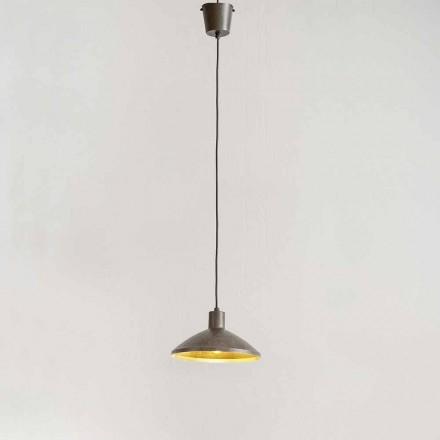 Ophængslampe i antik ståldiameter 310 mm - Materia Aldo Bernardi