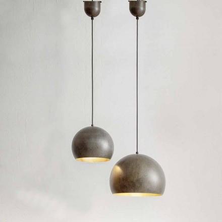 Hængt lampe i ståldiameter 300 eller 400 mm - Materia Aldo Bernardi