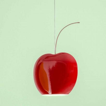 Ophængt keramisk lampe i kirsebær - frugter Aldo Bernardi