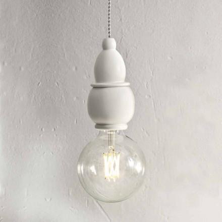 Lurvet Chic keramisk hængelampe med 3 m kabel - Skæbne Aldo Bernardi