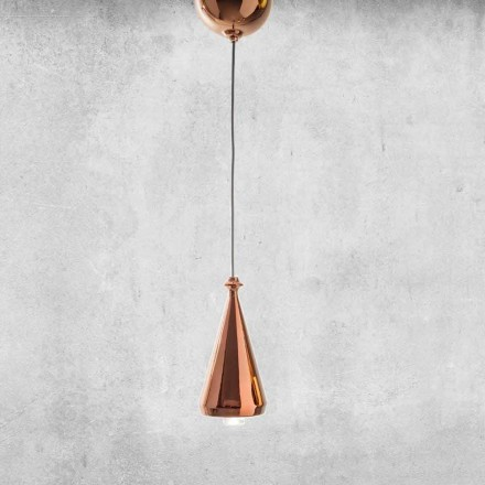 Design LED ophængt lampe i keramik - Lustrini L2 Aldo Bernardi