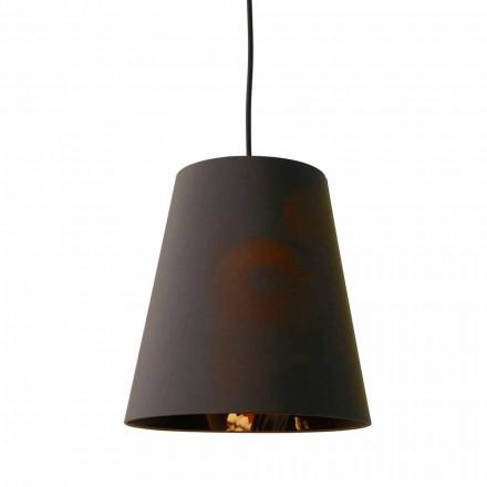 Hængende lampe i antracit hør med internt design Print 2 størrelser - Bramosia