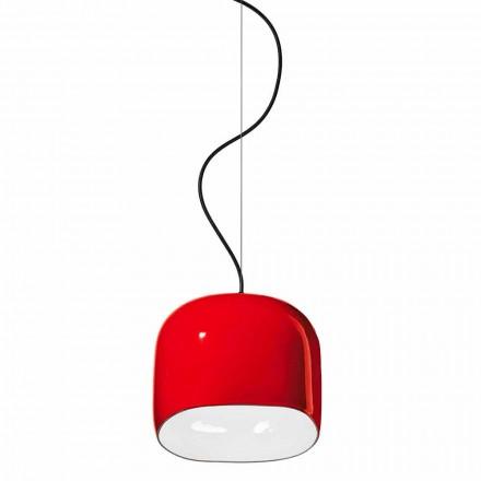Suspensionslampe i moderne stil i keramik fremstillet i Italien - Ferroluce Ayrton