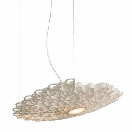 Hængende lampe i hvid Technopolymer Design 2 Dimensioner - Cathedral