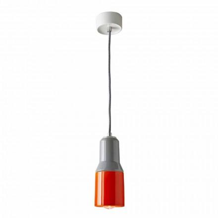 Moderne ophængt lampe i keramik og aluminium fremstillet i Italien Asien