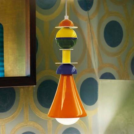 Moderne flerfarvet hængende lampe Slide Otello Hængende, lavet i Italien