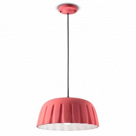 Vintage keramisk hængelampe fremstillet i Italien - Ferroluce Madame Grès