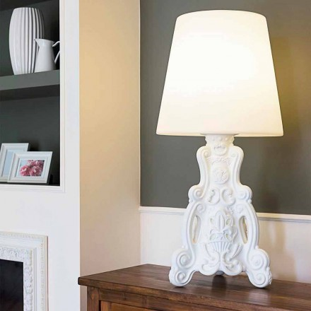 Farvet bordlampe Slide Lady of Love moderne design lavet i Italien