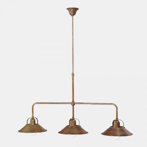 3 lysekrone i messing Vintage Design lavet i Italien - Cascina af Il Fanale