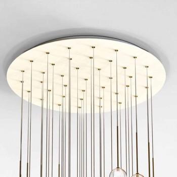40 lysekrone i poleret messing og glas fremstillet i Italien, luksus - Selene