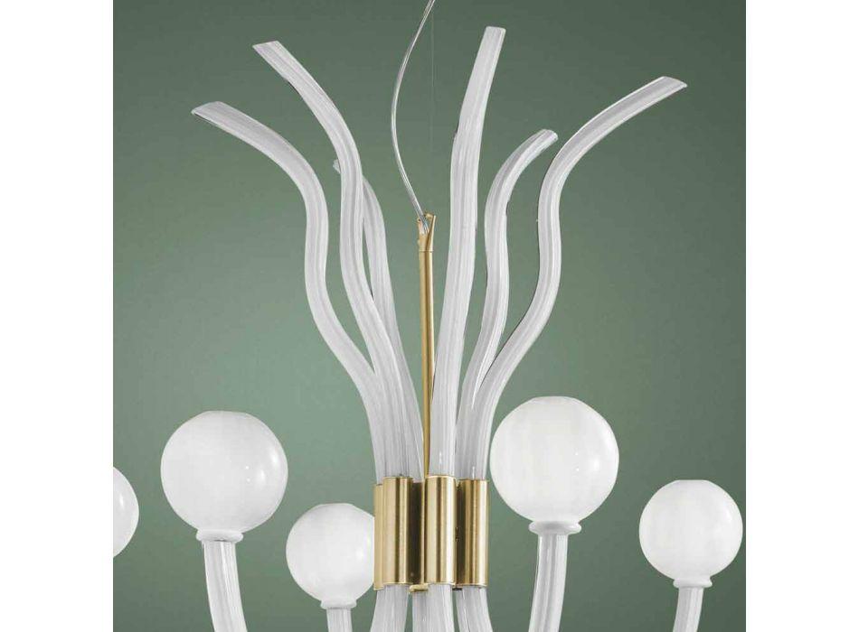6 lys venetiansk lysekrone, håndlavet i Italien - Antonietta