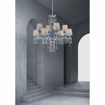8 lysekrone i venetiansk glas, håndlavet, fremstillet i Italien - Milagros