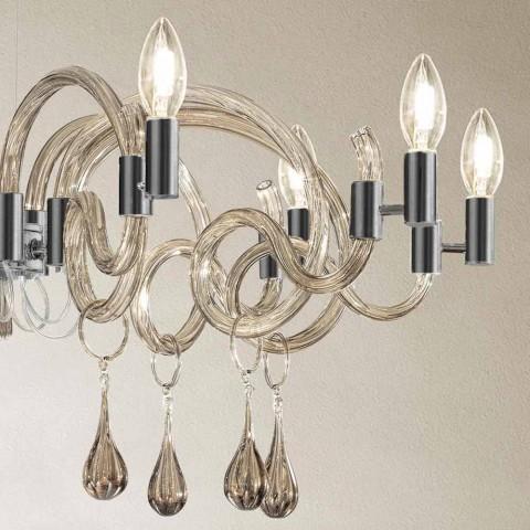 9 lys håndlavet lysekrone fra Venedig, lavet i Italien - Bernadette