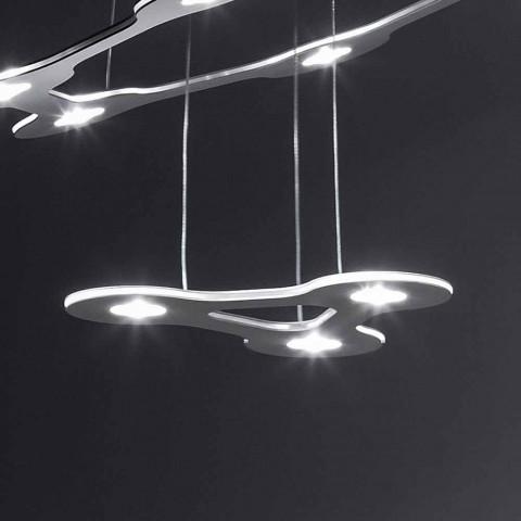 9 lysekrone i finmalet aluminium fremstillet i Italien - Flash