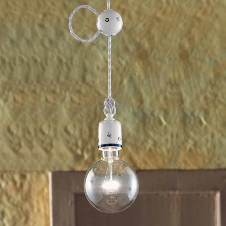 Chandelier rustik keramik suspension Ferroluce
