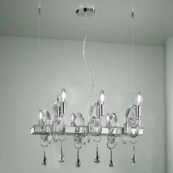 Artisan 6 Lights Lysekrone i Venedig Glas Fremstillet i Italien - Bernadette