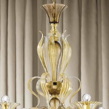 Artisan 6 lys venetiansk lysekrone fremstillet i Italien - Agustina